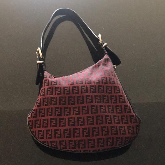 Fendi Handbags - Fendi vintage asymmetrical burgundy bag